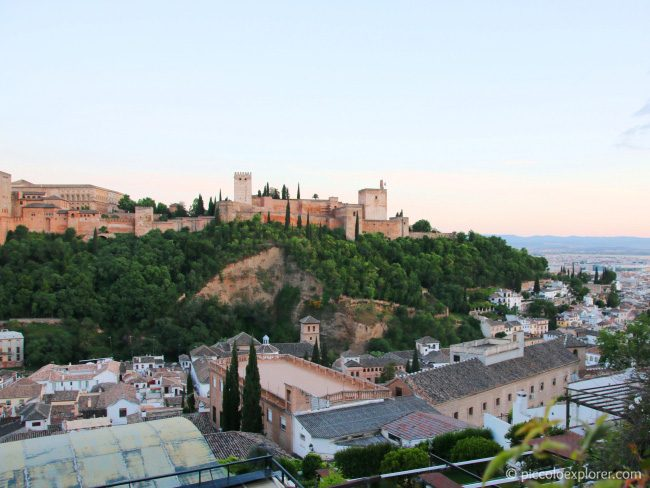 View of the Alhambra from El Albayzin