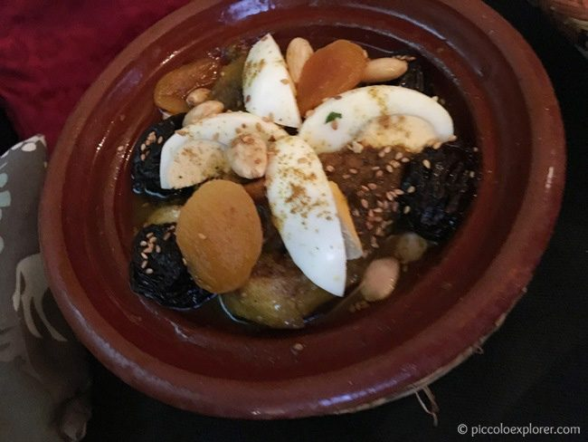 Lamb and prune tagine at Restaurante Arrayanes, Granada