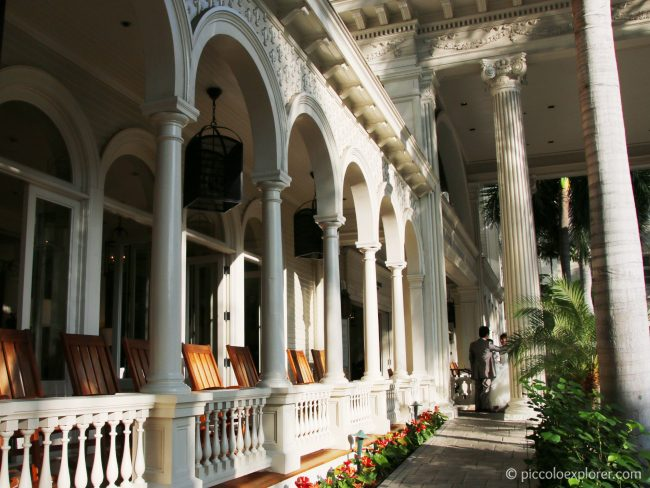 Front porch rocking chairs, Moana Surfrider