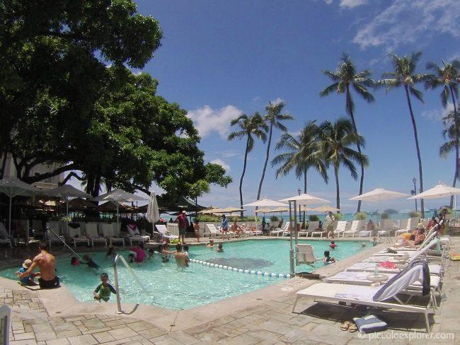 Swimming pool at the Moana Surfrider, Waikiki