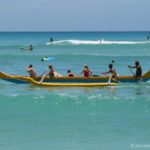 Outrigger Canoeing off Waikiki Beach, Oahu