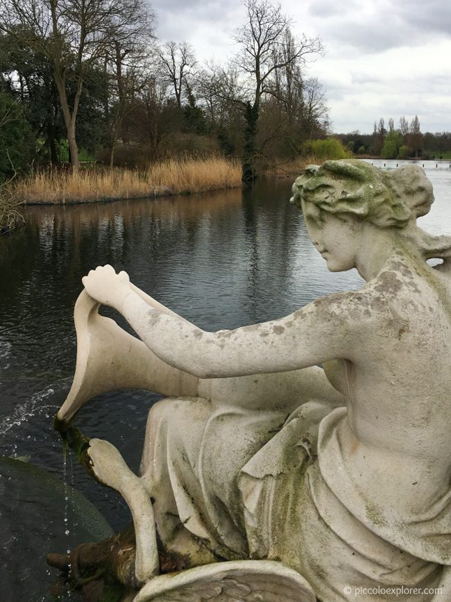 Tazza Fountain in the Italian Gardens, Kensington Gardens, London