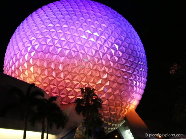 Epcot Spaceship Earth sphere, Walt Disney World, Orlando, Florida