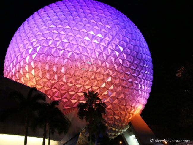 Epcot Spaceship Earth sphere, Walt Disney World, Orlando, Florida
