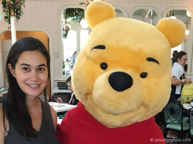 Meeting Pooh at The Crystal Palace Character Lunch, Walt Disney World