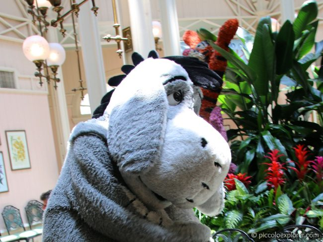 Eeyore at Crystal Palace Pooh with Friends Lunch at Magic Kingdom