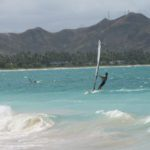 Windsurfing at Kailua Beach Park, Oahu