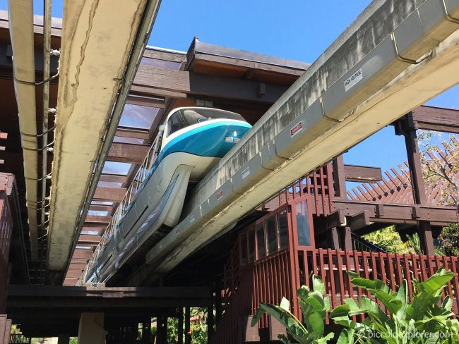 Monorail at Polynesian Village Resort, Walt Disney World