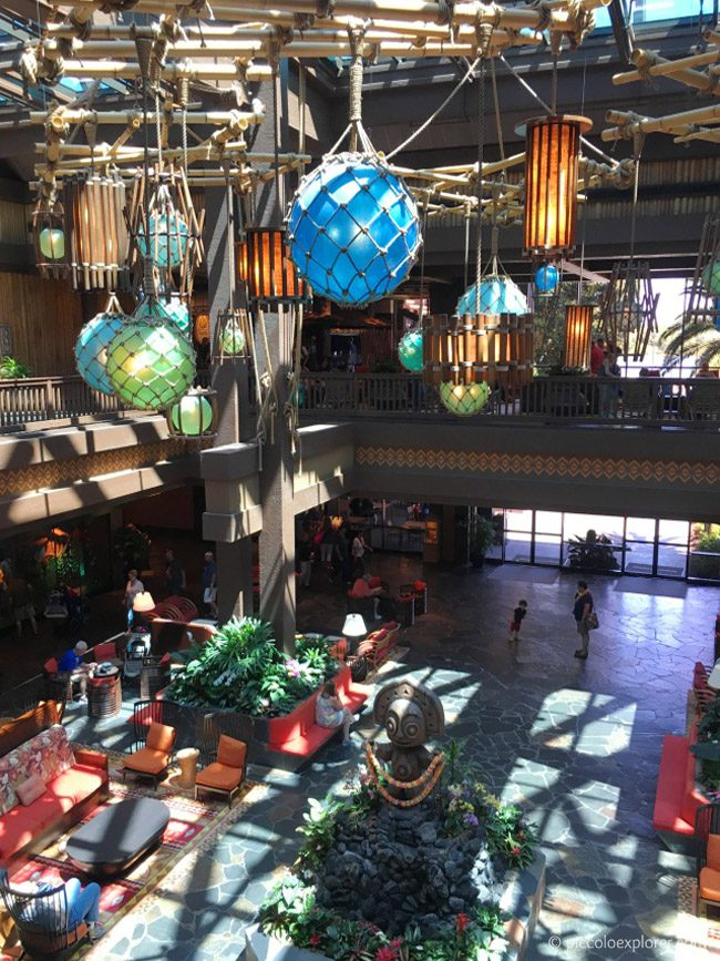 Lobby at Polynesian Village Resort, Walt Disney World