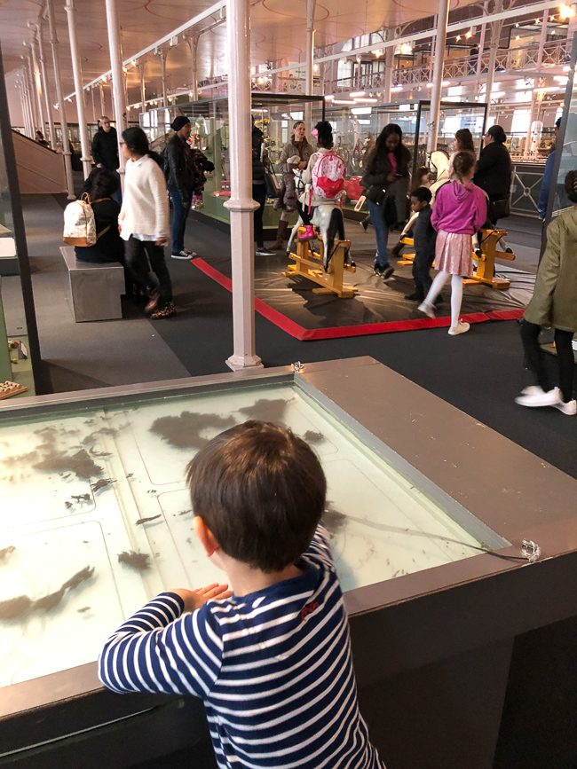 Interactive magnetic table at Museum of Childhood