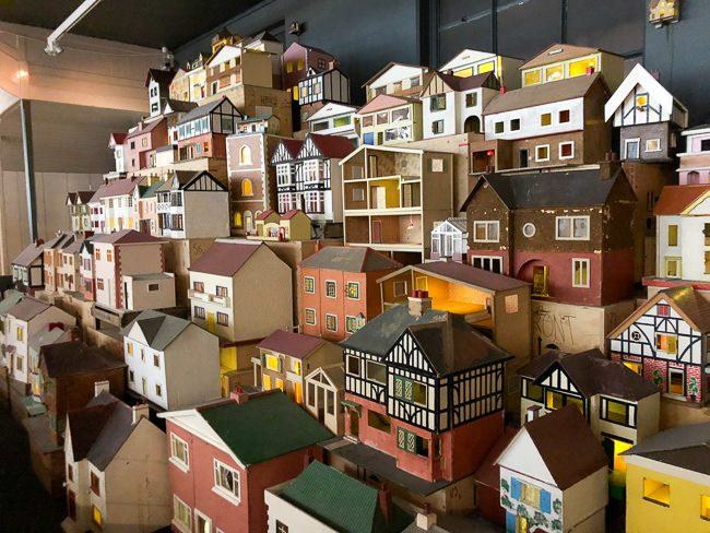 Dolls' houses at Museum of Childhood London