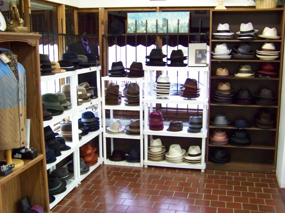 Jb's large selection of hats.