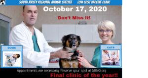 Vaccine Clinics @ South Jersey Regional Animal Shelter