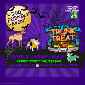 Trunk or Treat @ South Jersey Regional Animal Shelter