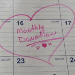 button, monthly donation, calendar