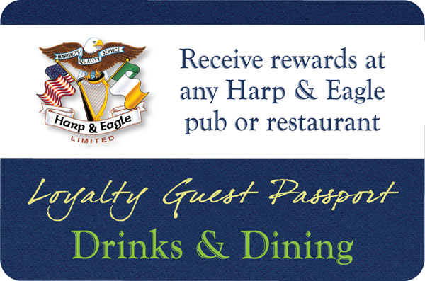 Harp & Eagle Loyalty Cards