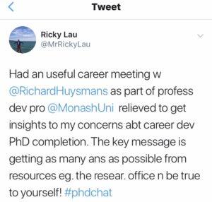 Testimonial tweet