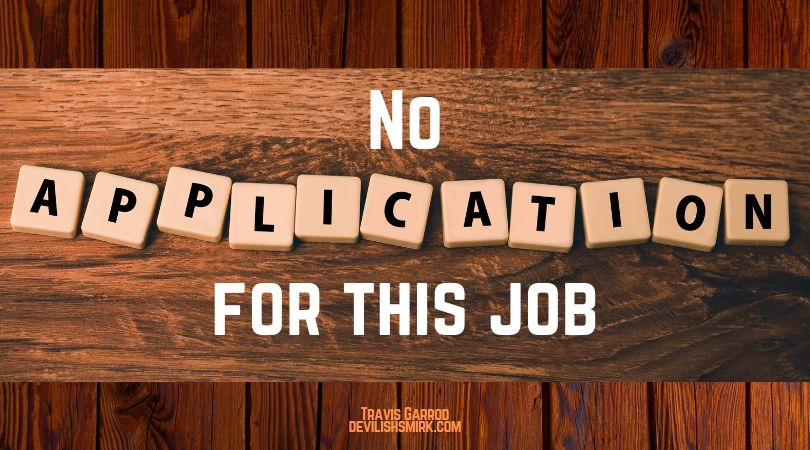 No Application For This Job