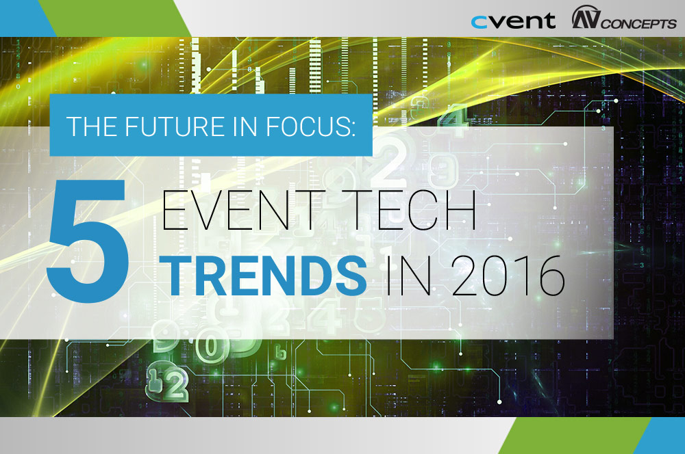 AV Concepts & Cvent to Host Highly-Anticipated Meetings Focus Webinar on 2016 Event Tech Trends