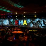 CEMA Intimate General Session Setting Projection Mapping Table Rounds