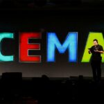 CEMA Intimate General Session Setting InteriorProjection Mapping Stage