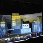 Epson InfoComm Booth Projection Mapping City Skyline