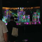 Epson InfoComm Booth Projection Mapping Skyline - People Stop to Watch