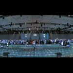 Google I/O Pre-Show Widescreen Interactive Pong Demo