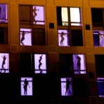 Hard Rock Hotel Exterior Building Projection Mapping Building Transformation - Dancers in Windows