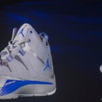 Nike Air Jordan Activation Holographic Sneakers Floating on Stage