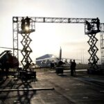 USS Midway Exterior Projection Mapping Rigging