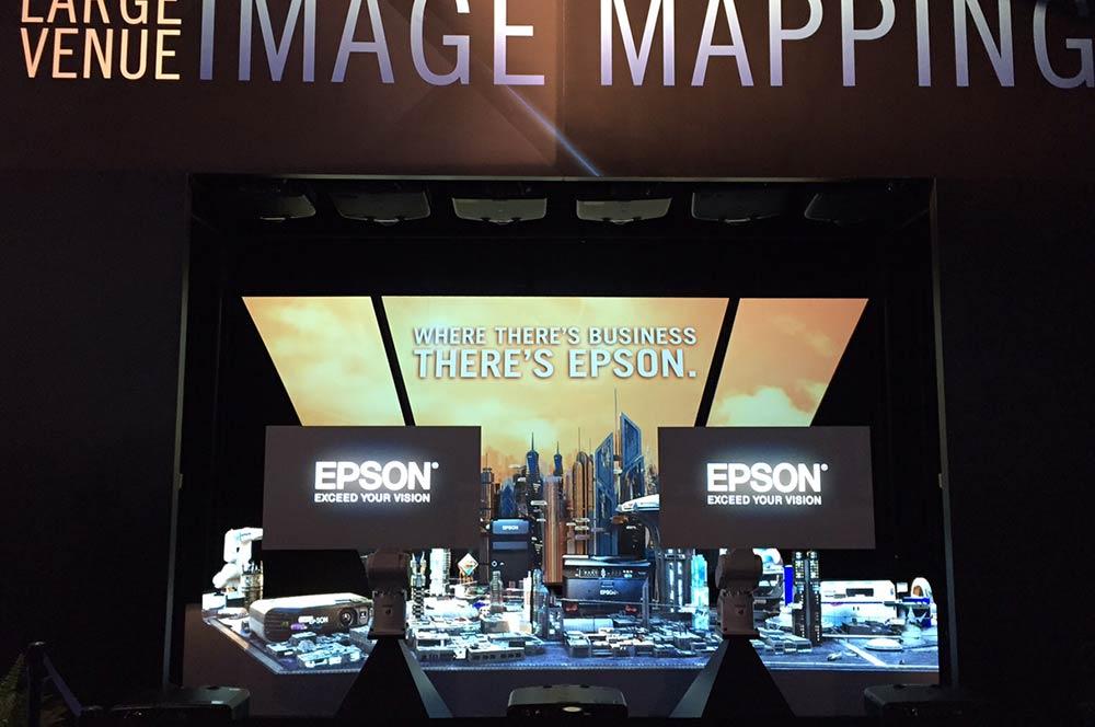 Epson InfoComm Robot & Projection Mapping Exhibit
