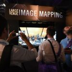 Epson InfoComm Robotic Arm and Projection Mapping Booth Experience - Crowd Photographing and Amazement