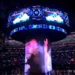 NCAA Final Hour Engagement Projection Mapping Scrim Content