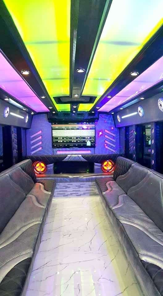 Why rent a party bus in October.