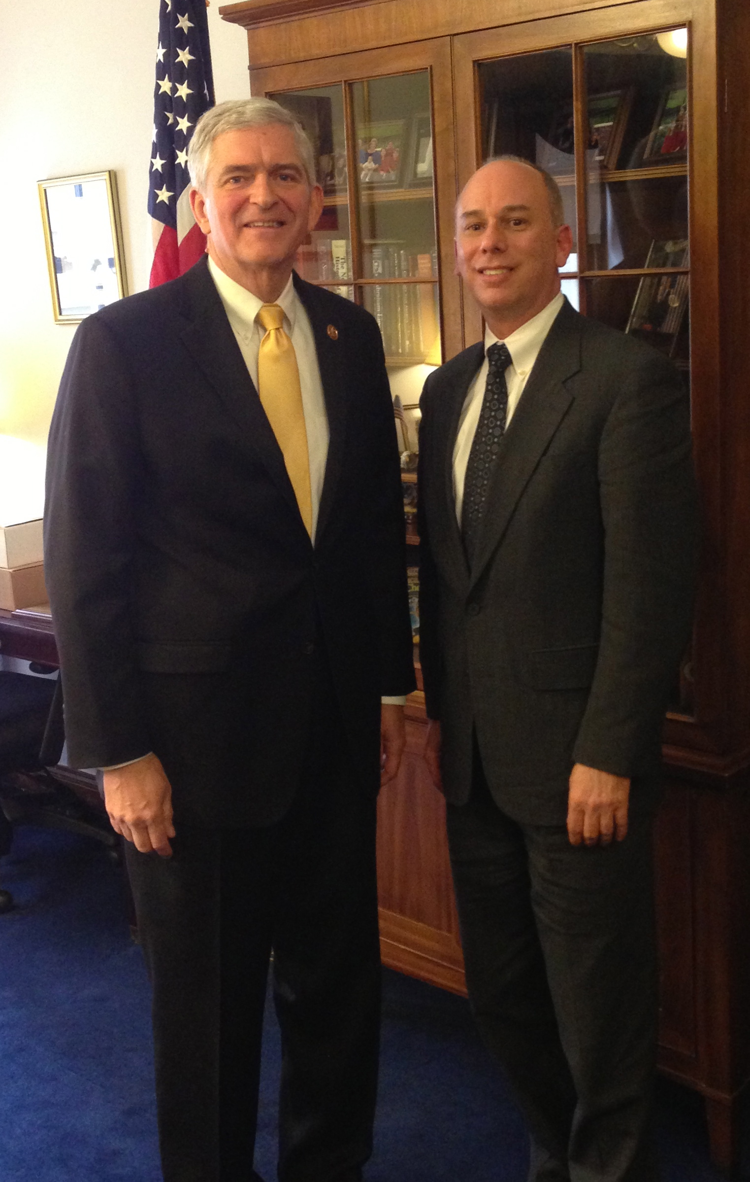 Prosthetist Orthotist Brett Saunders meets with Rep. Daniel Webster as pictured on the website of Saunders Prosthetics and Orthotics Group in the Villages of Lady Lake