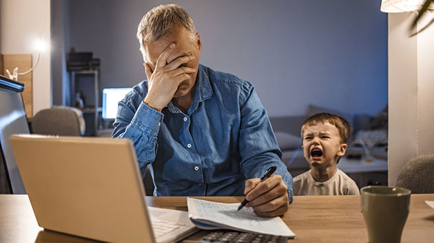 "Survey says nearly half of all parents are battling ""severe"" stress because of COVID-19"