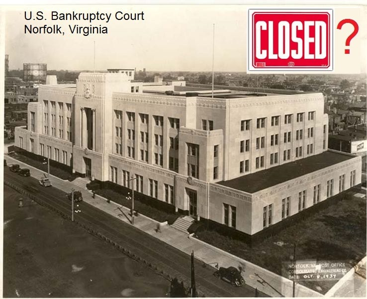 bankruptcy court norfolk closed?