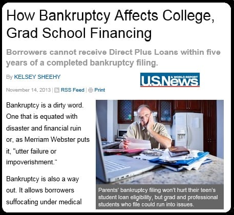 Bankruptcy and student loans