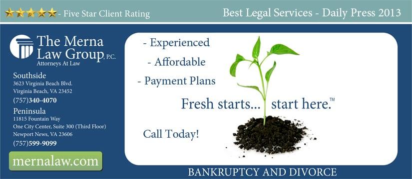 Bankruptcy & Divorce - Virginia Beach, Newport News