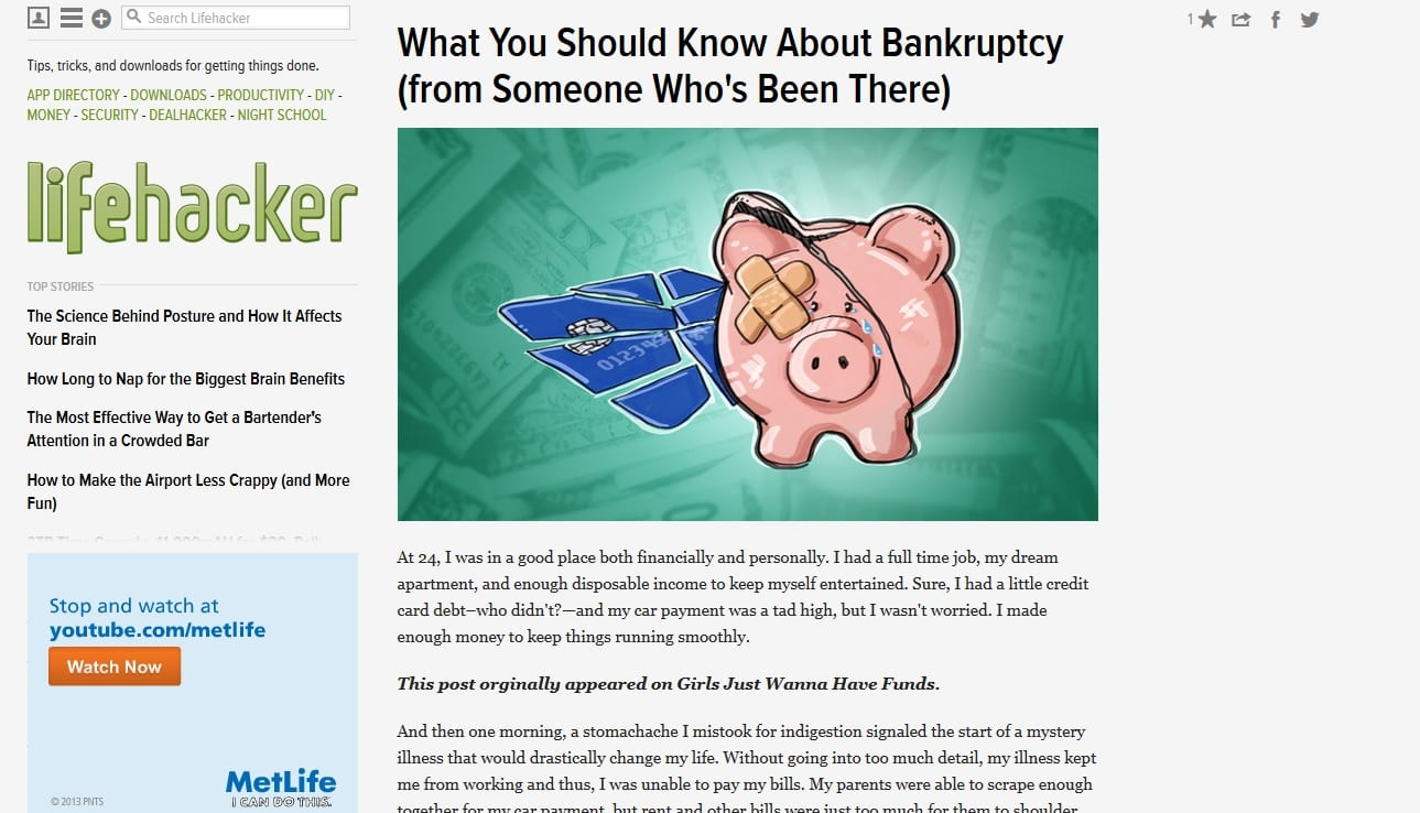 What You Should Know About Bankruptcy