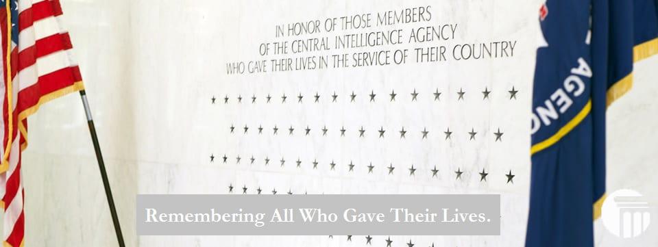 Central Intelligence Agency (CIA) Wall of Rememberance - Memorial Day - John G. Merna