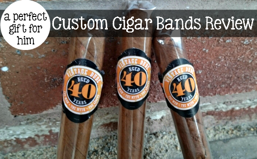 A Perfect Gift For Him - Custom Cigar Bands Review: Keepsake or Fun with his buddies these will be a SURE hit!  - sixtimemommy.com