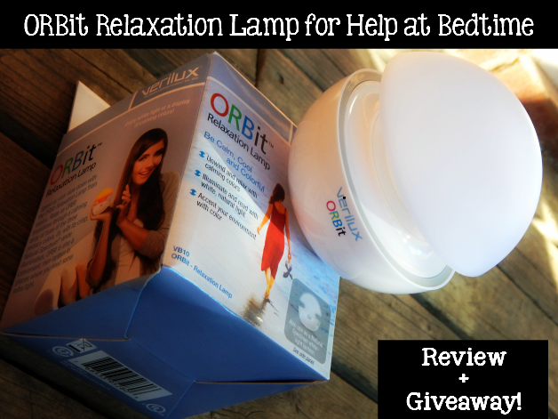 ORBit Relaxation Lamp for Help at Bedtime Review + Giveaway