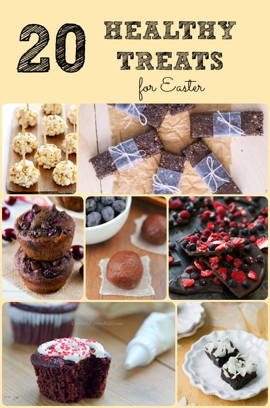 20 Healthy Treats for Easter! Want to put something other than packaged chocolate in your Easter Basket? Looking for a nice treat for a family dinner? Here's all you need! - sixtimemommy.com