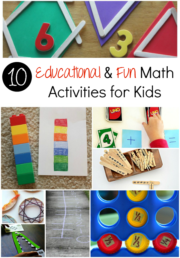 Educational & Fun Math Activities for Kids  - sixtimemommy.com