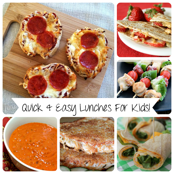 Quick & Easy Lunches for Kids: This is a fantastic round up of 12 wonderful quick and easy lunchs for kids!  - sixtimemommy.com