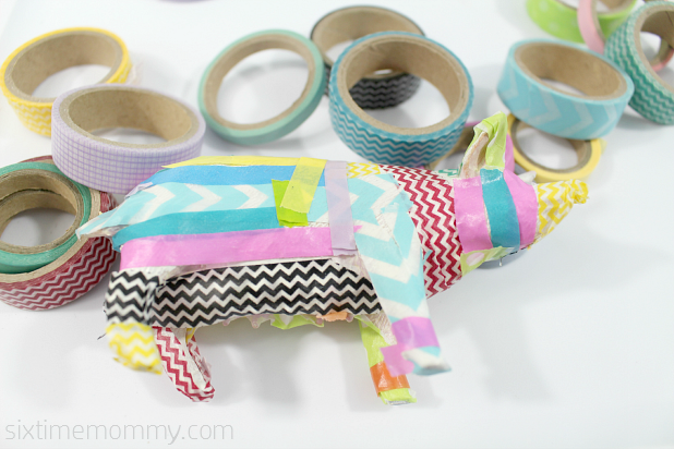 washi tape pig in process 2