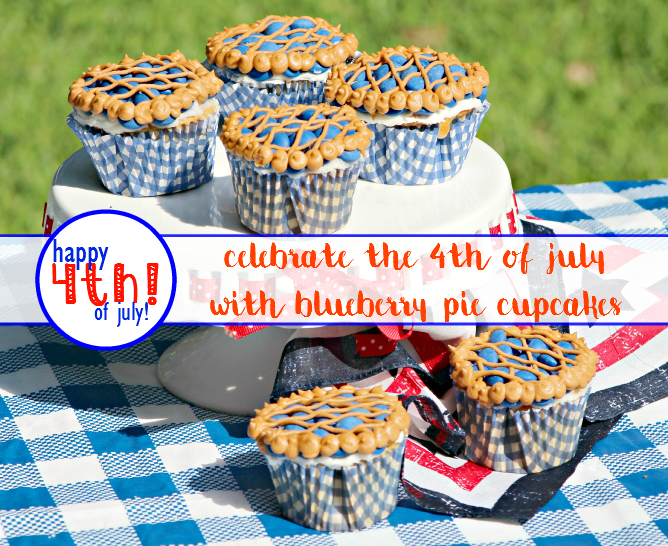 Celebrate the 4th of July with Blueberry Pie Cupcakes! - sixtimemommy.com