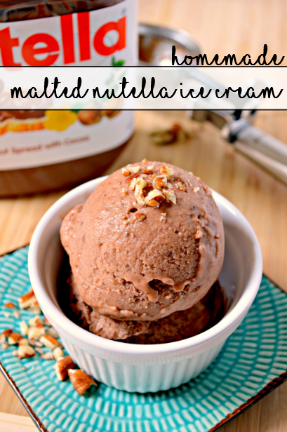 Homemade Malted Nutella Ice Cream - sixtimemommy.com